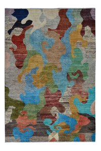Hand knotted 9'54x6'62 Modern teppich Wool Rug carpets Abstract Carpet