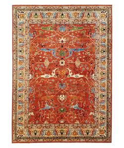 Tribal Hand knotted  14'73x 11'84 wool Serapi kazak area rug Oriental carpet