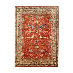 Handgeknüpft wolle serapi fine kazak teppich  449x361 Orientalisch