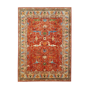 Tribal Hand knotted  14'73x 11'84 wool Serapi kazak area rug Oriental carpet