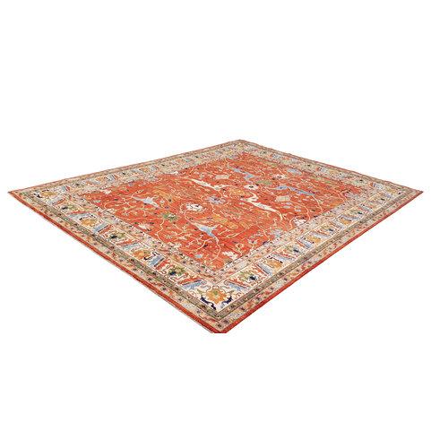 Handgeknoopt kazak tapijt 449x361 cm  oosters kleed vloerkleed