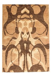 Hand knotted carpet 9'71x6'49 Modern  Geometric Wool Abstract