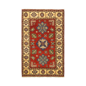 Tribal Hand knotted  carpet  Royal kazak Red 4'72x3'18  Traditional Wool Rug