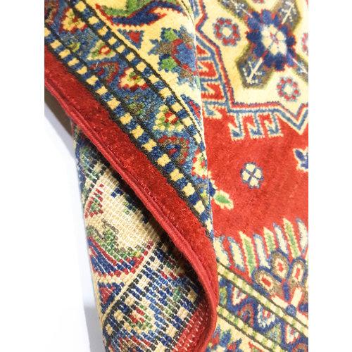 Handgeknoopt Royal Rood kazak tapijt 149x98 cm   vloerkleed Traditional