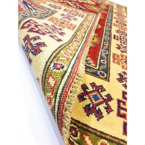 Handgeknoopt Royal Rood kazak tapijt 152x95 cm   vloerkleed Traditional