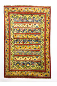 Tribal Hand knotted  carpet  Royal kazak 4'85x3'24 Traditional Wool Rug
