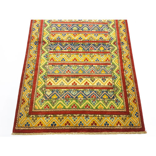 Handgeknoopt Royal Rood kazak tapijt 148x99 cm   vloerkleed Traditional