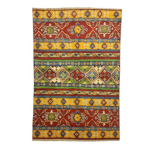 Tribal Hand knotted  carpet  Royal kazak  5'05x3'54 Oriental Wool Rug