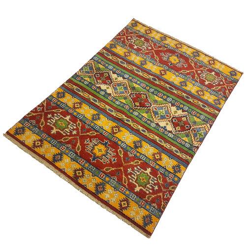 Handgeknoopt Royal Rood kazak tapijt 154x108 cm   vloerkleed Traditional