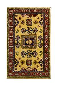 Hand knotted  carpet kazak  5'08x3'05 Oriental Wool Rug Teppich