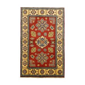 Handgeknoopt Royal Rood kazak tapijt 161x101 cm   vloerkleed Traditional