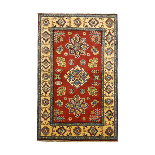 Traditional Wool Rug Tribal Hand knotted  carpet  Royal kazak Red 5'28x3'31