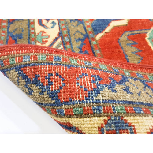 Handgeknoopt Royal Rood kazak tapijt 153x101 cm   vloerkleed Traditional