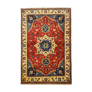 Traditional Wool Rug Tribal 5'01x3'34 Hand knotted  carpet  Royal kazak Red