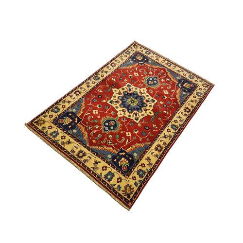 Handgeknoopt Royal Rood kazak tapijt 153x102 cm   vloerkleed Traditional
