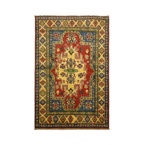 Traditional Wool Rug Tribal 4'95x3'11 Hand knotted  carpet  Royal kazak