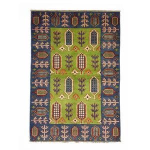 Handgeknüpft wolle kazak teppich 151x102 cm   Orientalisch  teppich