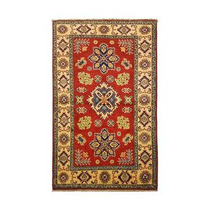 Traditional Wool Rug Tribal 5'08x3'24 Hand knotted  carpet  Royal kazak
