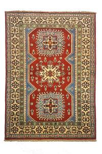Traditional Wool Rug Tribal 4'75x3'34 Hand knotted  carpet  Royal kazak