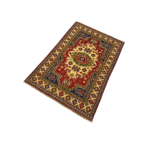 Traditional Wool Rug Tribal 4'82x3'21 Hand knotted  carpet  Royal kazak