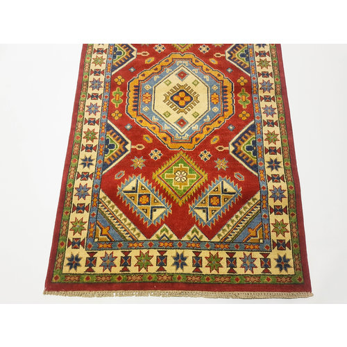 Handgeknüpft wolle kazak teppich 155x92 cm   Orientalisch  teppich