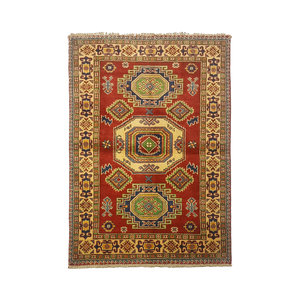 Traditional Wool Rug Tribal 4'79x3'28 Hand knotted  carpet  Royal kazak