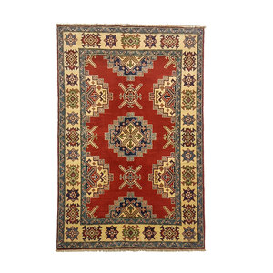 Traditional Wool Rug Tribal 4'95x3'24 Hand knotted  carpet  Royal kazak