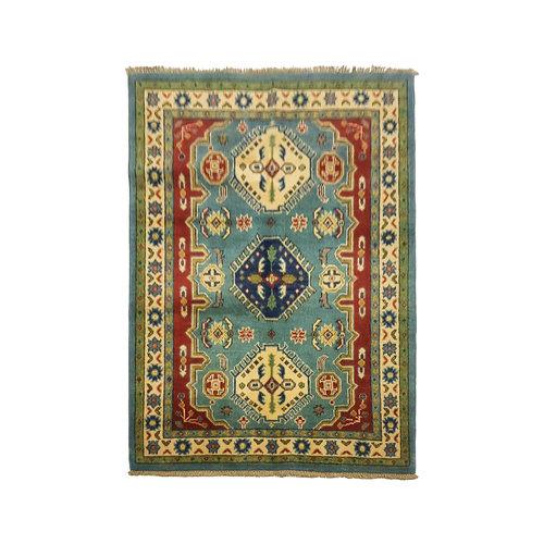 Traditional Wool Rug Tribal 4'29x3'14 Hand knotted  carpet  Royal kazak