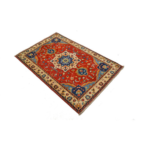 Traditional Wool Rug Tribal 5'15x3'37 Hand knotted  carpet  Royal kazak