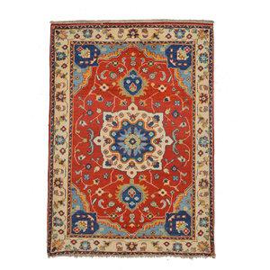 Traditional Wool Rug Tribal 5'15x3'37 Hand knotted  carpet  Royal kazak