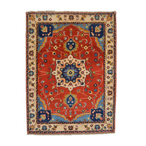 Handgeknoopt Royal kazak tapijt 151x110 cm  vloerkleed Traditional