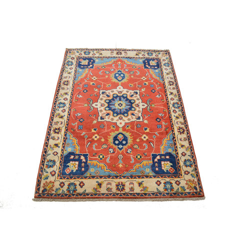 Traditional Wool Rug Tribal 4'95x3'60 Hand knotted  carpet  Royal kazak