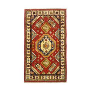 Traditional Wool Rug Tribal 5'08x2'88 Hand knotted  carpet  Royal kazak