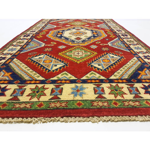 Traditional Wool Rug Tribal 5'08x2'88 Hand knotted  carpet  Royal kazak