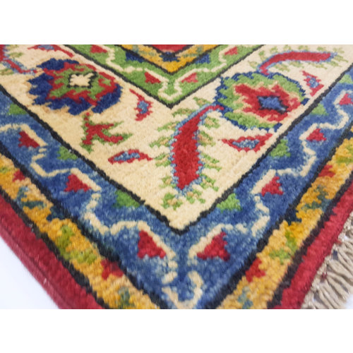 Traditional Wool Rug Tribal 4'92x3'31 Hand knotted  carpet  Royal kazak