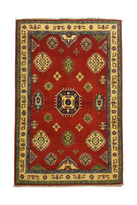 Traditional Wool Red Rug Tribal 5'21x3'41 Hand knotted  carpet  Royal kazak