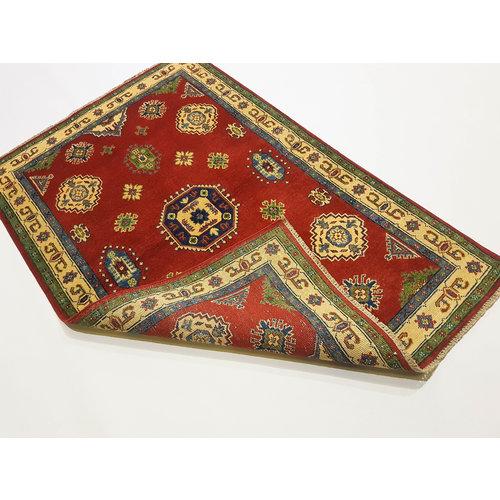 Handgeknoopt RoyalRood kazak tapijt 159x104 cm   vloerkleed Traditional