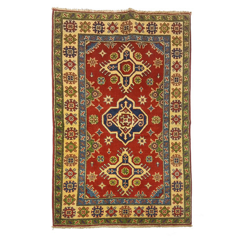 Traditional Wool Red Rug Tribal 5'15x3'14 Hand knotted  carpet  Royal kazak