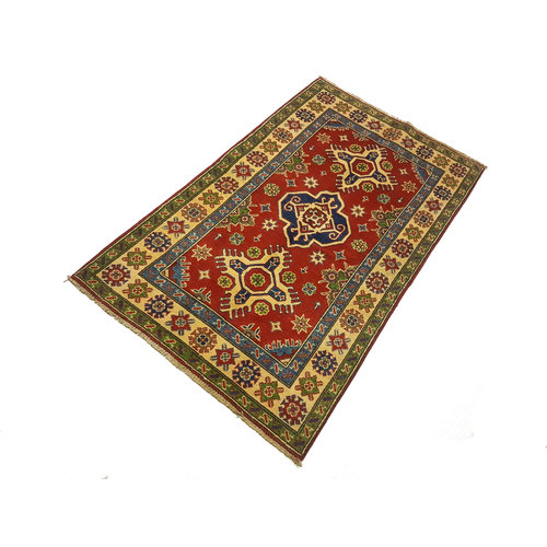 Handgeknoopt RoyalRood kazak tapijt 157x96 cm   vloerkleed Traditional