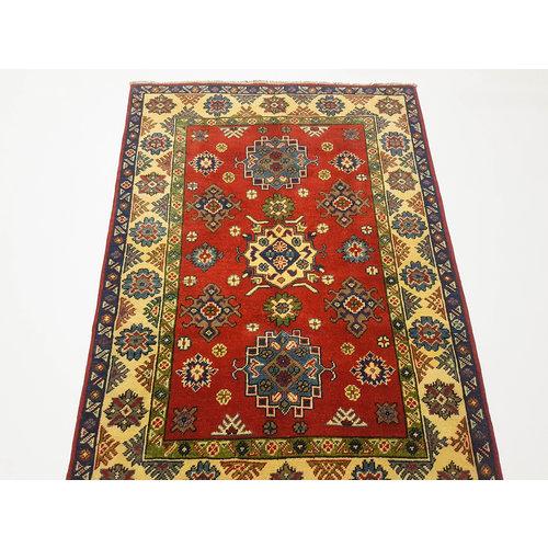 Handgeknoopt RoyalRood kazak tapijt 142x100 cm vloerkleed Traditional