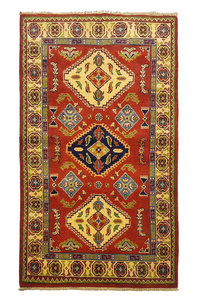 Traditional Wool Rug Tribal 5'08x3'05 Hand knotted  carpet  Royal kazak