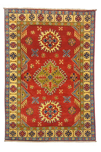 Traditional Wool Red Rug Tribal 4'82x3'21 Hand knotted  carpet  Royal kazak