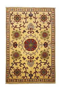 Traditional Wool Rug Tribal 4'95x3'11 Hand knotted  carpet  Royal kazak