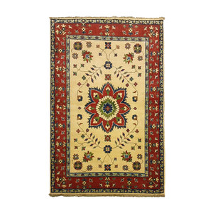 Traditional Wool Rug Tribal 4'92x3'21 Hand knotted  carpet  Royal kazak