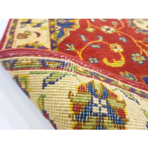 Handgeknoopt Royal Rood kazak tapijt 150x91 cm   vloerkleed Traditional
