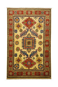 Traditional Wool Rug Tribal 4'88x3'28 Hand knotted  carpet  Royal kazak