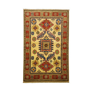 Traditional Wool Rug Tribal 4'88x3'28 Hand knotted  carpet  Royal kazak