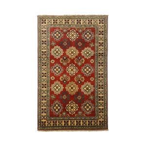 Handgeknoopt Royal Rood kazak tapijt 148x94 cm   vloerkleed Traditional