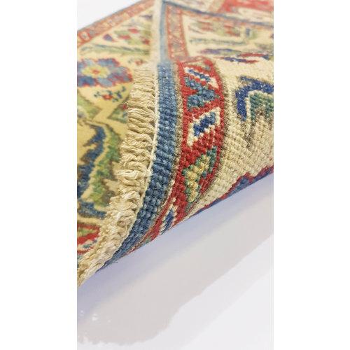 Geometric Wool Rug Tribal 4'79x3'05 Hand knotted  carpet  Royal kazak