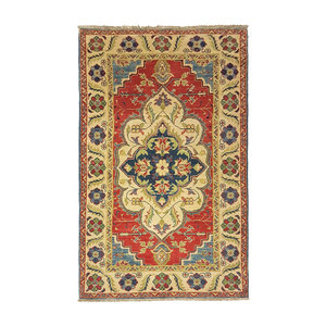 Geometric Wool Rug Tribal 4'85x3'18 Hand knotted  carpet  Royal kazak